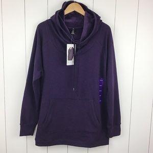 Active Life Women's XXL Pullover Sweatshirt Purple